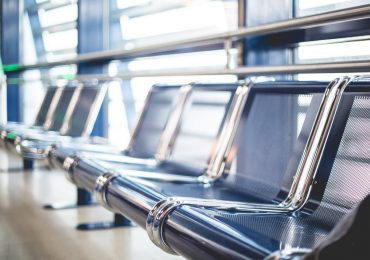 Airport Seats in Terminal Waiting Area