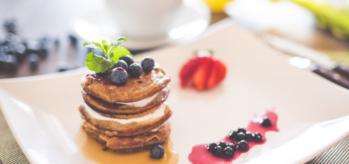 Pancakes with Cottage Cheese And Blueberries